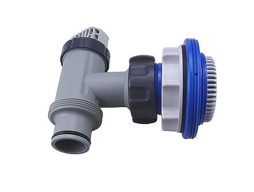 Intex - Grifo (con válvula de paso, con rácor, para piscinas ...