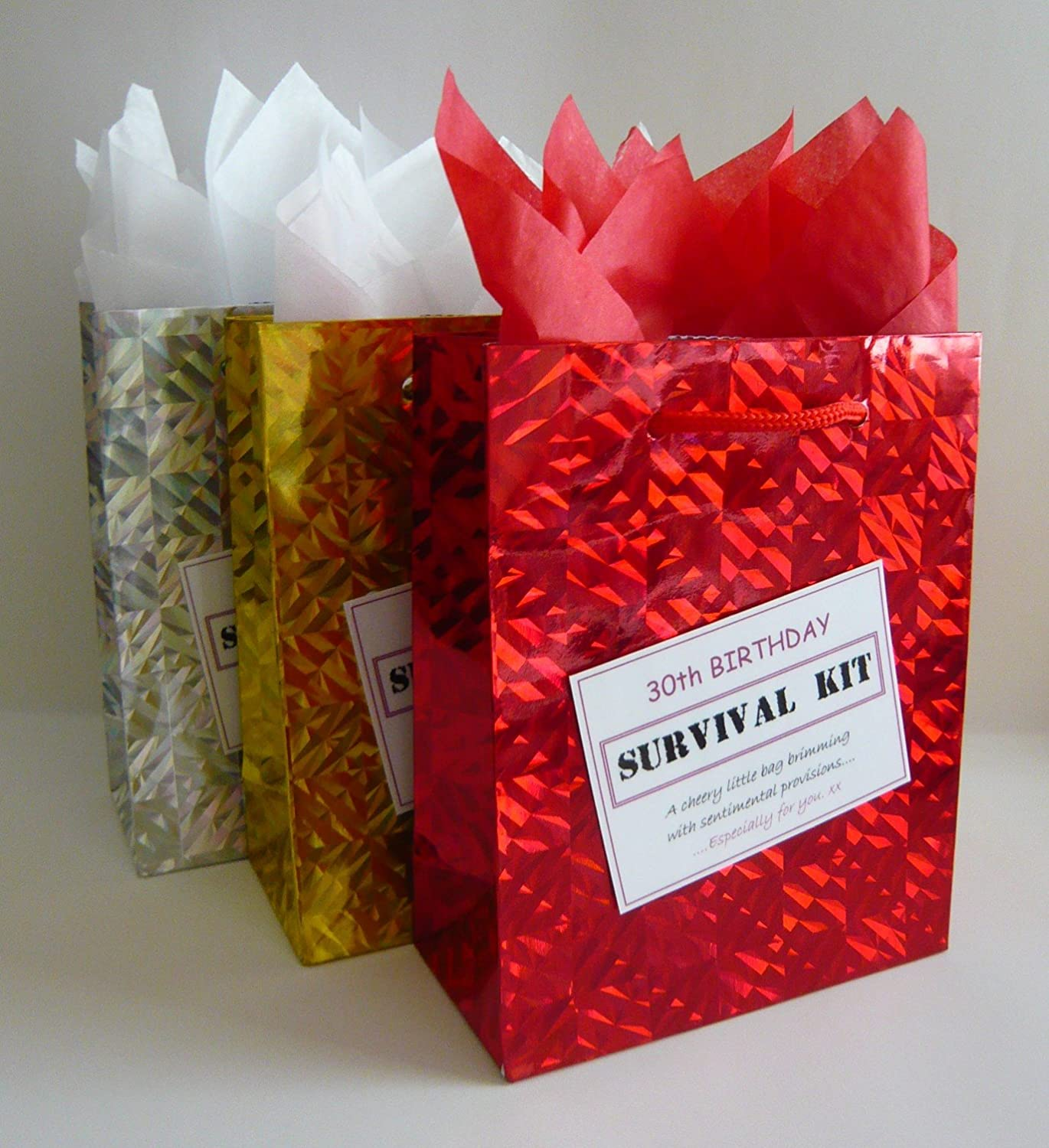 30th Birthday Survival Kit. For Female. Fun Gift Idea. Novelty Present. For Her.: Amazon.co.uk: Office Products