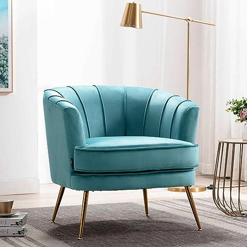 Cheap Altrobene Accent Chair Velvet Soft Armchair Modern Tufted Vanity Slipper Chair living room chair for sale