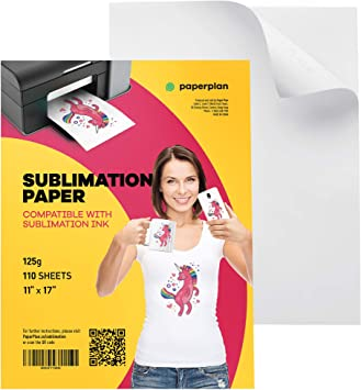 Amazon Com Sublimation Paper 11x17 110 Sheets 125g For Inkjet Printer Clear Color Press Transfer Printable Blanks Best For Light Fabric Mug T Shirt Bag Use Sublimation Ink Only Paper