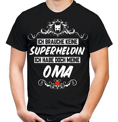 Ich brauche keine Superheldin T-Shirt | Großmutter | Held | Hero |  Freundschaft |