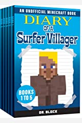 Diary of a Surfer Villager, Books 1-5: (a collection of unofficial Minecraft books) (Complete Diary of a Minecraft Villager Book 1) Kindle Edition