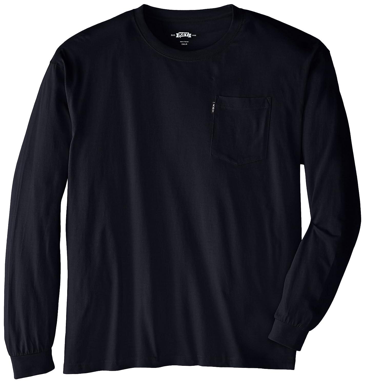 Key Apparel Mens Heavyweight Long Sleeve Pocket T-Shirt