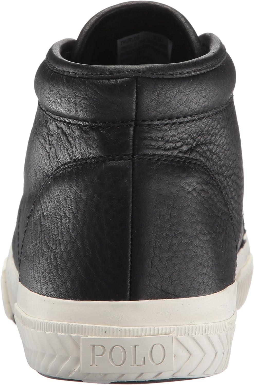 Ralph Lauren Mens Thurlos Black Leather Boots 40.5 EU: Amazon.es ...