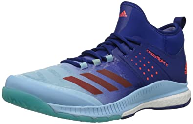 designer fashion e0f2b 96e31 adidas Womens Crazyflight X Mid Volleyball Shoes,Mystery InkBlaze  OrangeIce Blue