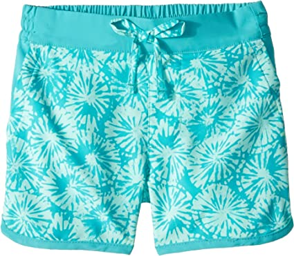 2ee3169626 Columbia Kids Baby Girl's Sandy Shores¿ Boardshorts (Toddler) Geyser Sun  Burst Print/