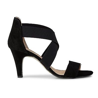 36a7ae67273fb DRIEVHOLT Damen Damen Stretch Sandalette aus Leder, Stiletto in ...