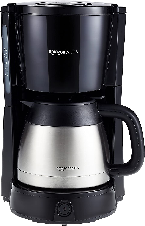 AmazonBasics - Cafetera de goteo (1000 W, 8 tazas, jarra isotérmica 1 L): Amazon.es: Hogar