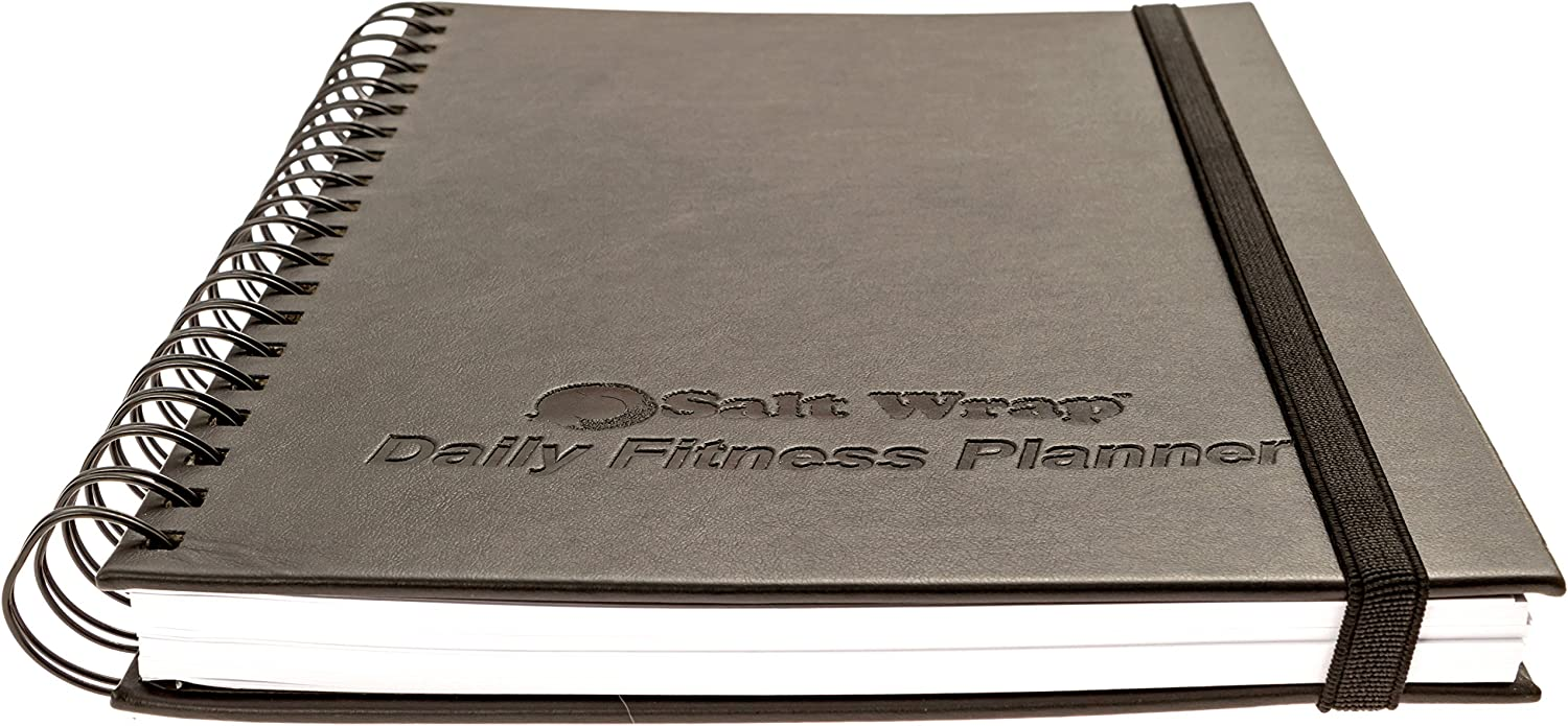 SaltWrap The Daily Fitness Planner - Gym Workout Log and Food Journal - with Daily and Weekly Pages, Goal Tracking Templates, Spiral-Bound, 7 x 10 inches : Sports & Outdoors