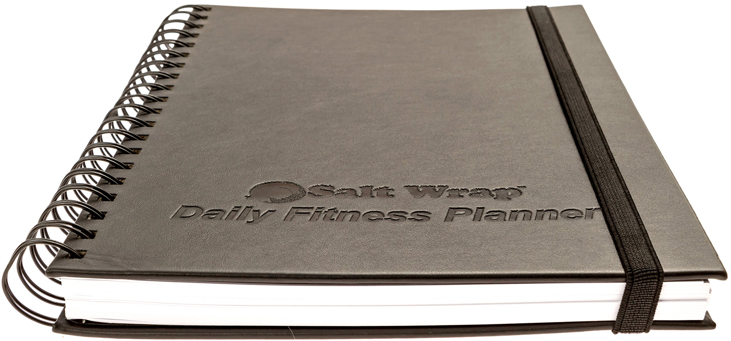"""SaltWrap The Daily Fitness Planner - Best Weight Training Log, Food Journal and Fitness Tracker (Daily & Weekly Pages + Goal Tracking Templates) – Spiral-bound, 280 pages (16 weeks) Size 7"""" x 10"""""""
