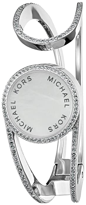 d6e3ef76f3e6 Amazon.com  Michael Kors Access Activity Tracker Thompson Clear Pave and  White Mother-of-Pearl Silver Bracelet  Jewelry