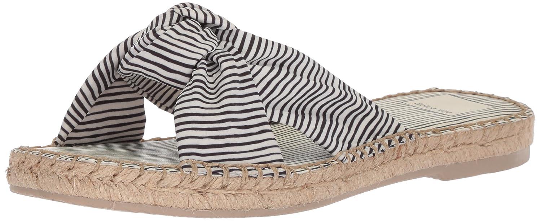 Dolce Vita Women's Benicia Slide Sandal B078BPZHSS 6 B(M) US|White Stripe Fabric
