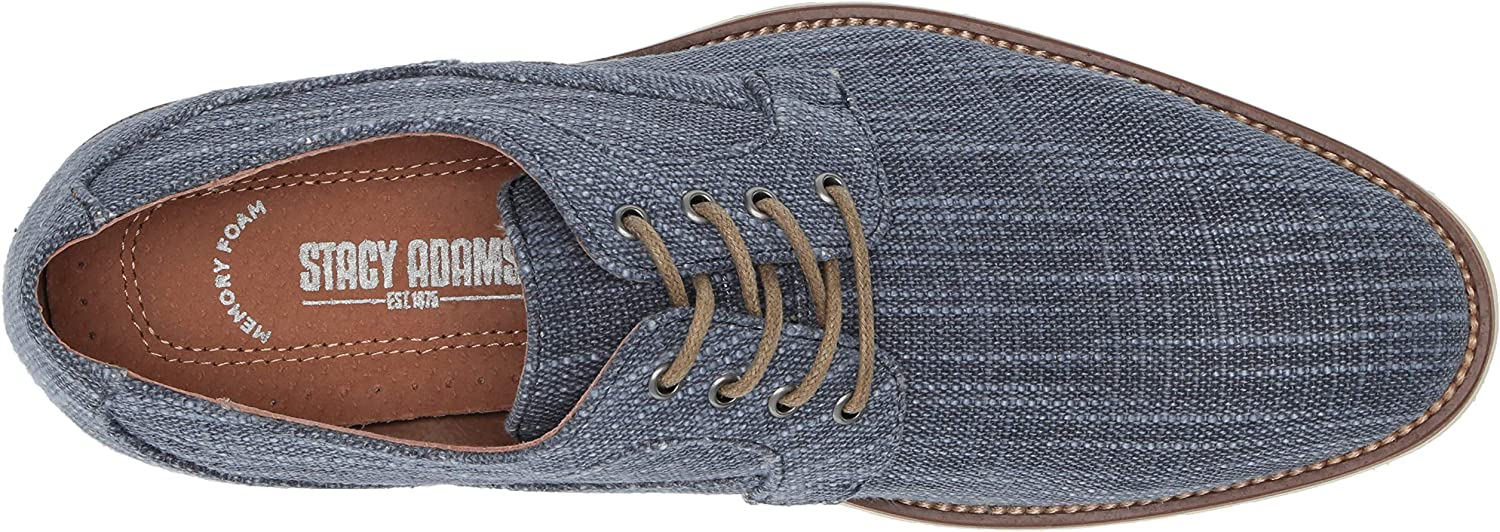STACY ADAMS Mens Eli Textured Canvas Lace-up Oxford