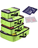 XABL 4PCS Set Bag For Travel Packing Organizers Cubes Luggage Organizers