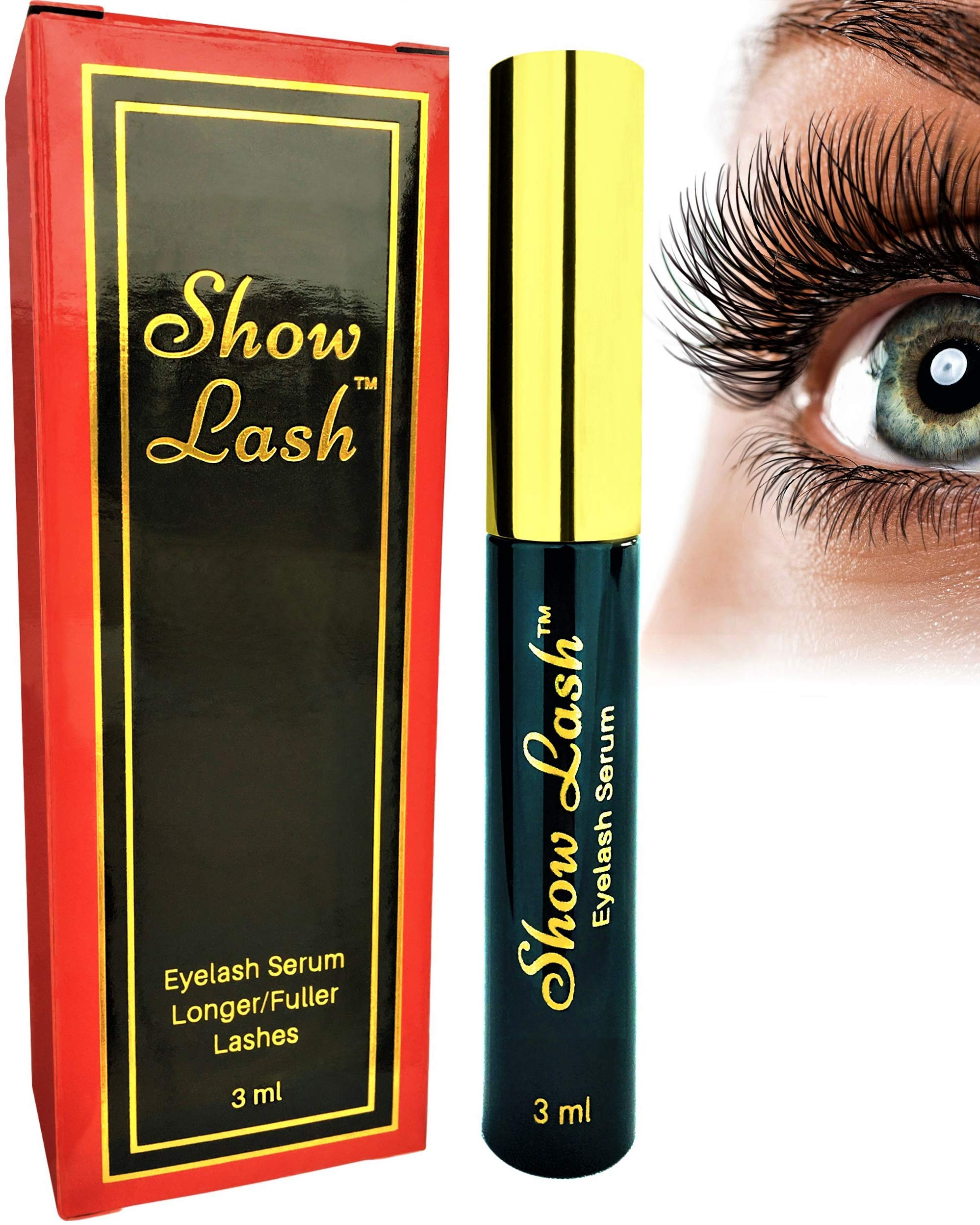 Show Lash - Premium Eyelash and Eyebrow Growth Enhancing Serum for Longer, Thicker, Gorgeous Lashes. The Most Powerful Lash Boosting Serum Without a Prescription. Clinically Proven. by LeVaye' (Image #1)