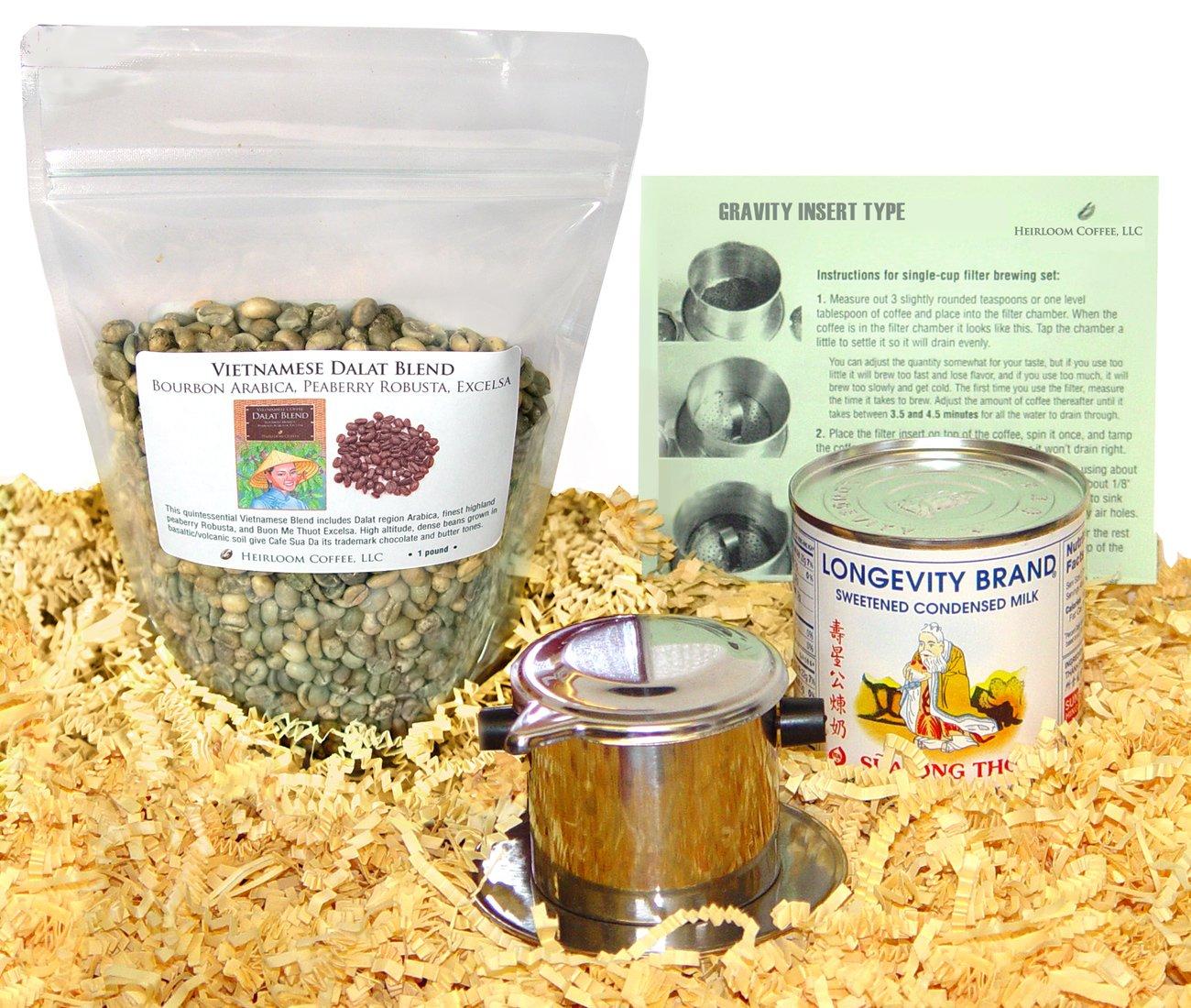 Vietnamese Unroasted Coffee Kit (3 LB Dalat Blend) by Len's Coffee