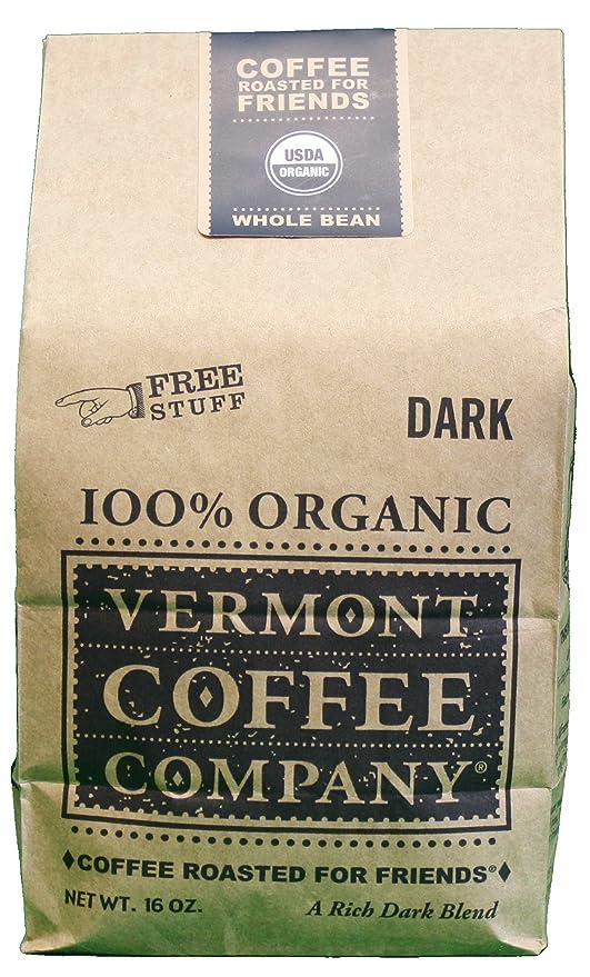 Vermont Coffee Company Whole Bean Coffee Dark Roast 16 Ounce Gourmet Food Grocery Gourmet Food Amazon Com