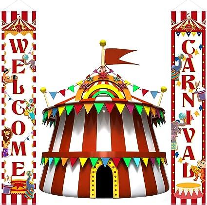 Amazon.com: Carnaval Decoración Porche Carnaval Circus ...