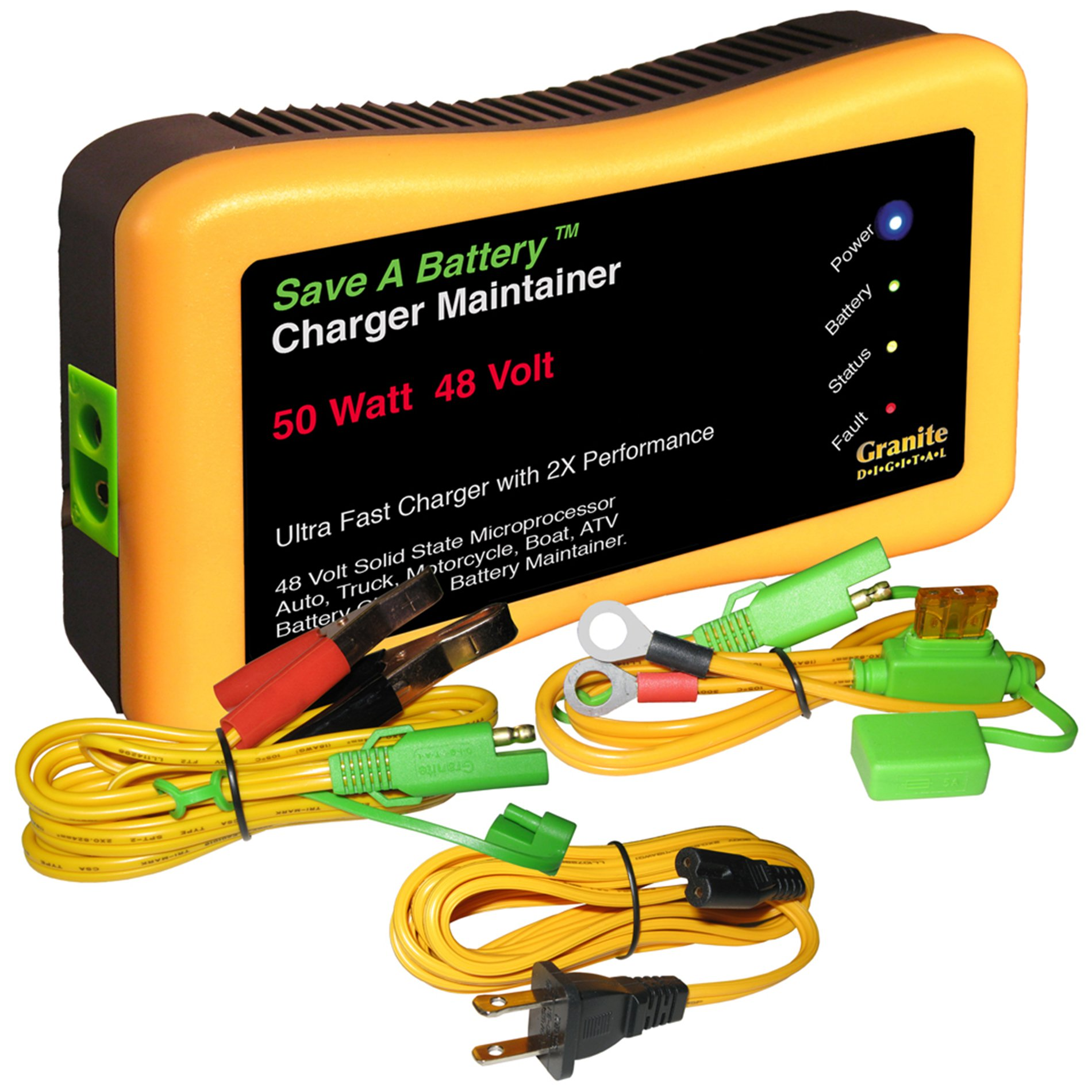 Granite Digital Battery Saver 2365-48 48V 50W Quick Charger and Auto Pulse Maintainer