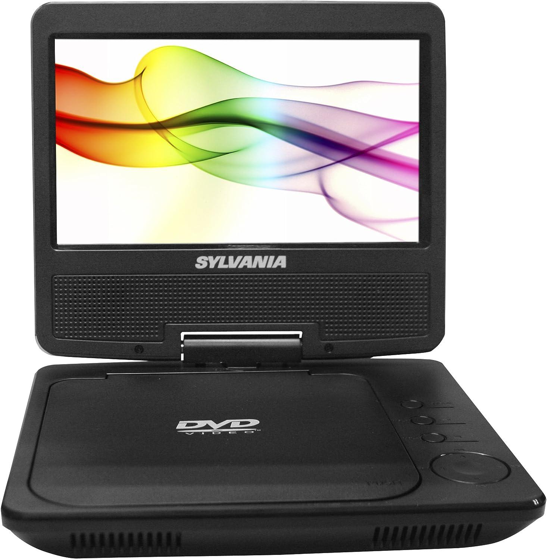 Amazon Com Sylvania Portable Dvd Player Sdvd7027 C 7 Inch Swivel Screen Black Electronics
