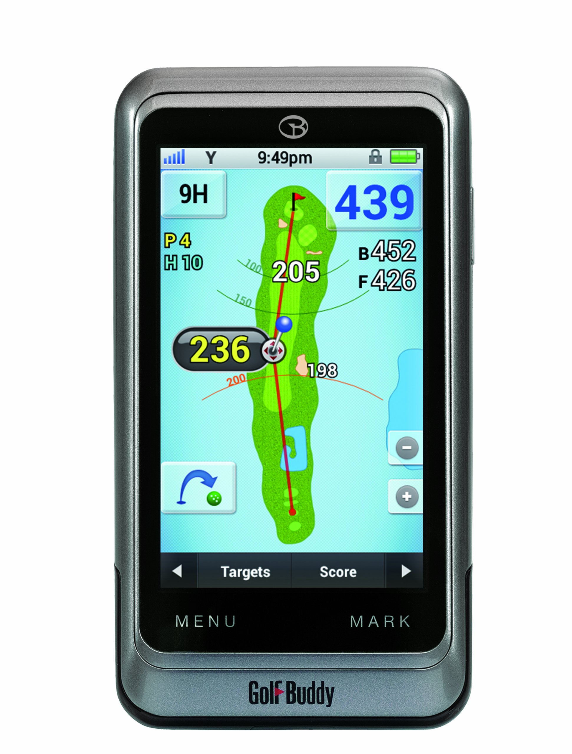 GolfBuddy GB3-PT4 Golf GPS/Rangefinder, Silver, Adjustable by GolfBuddy (Image #1)
