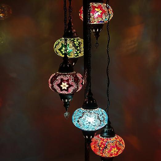 Impresionantes Lámparas De Piso De Mosaico Turco, Lámpara De Pie ...
