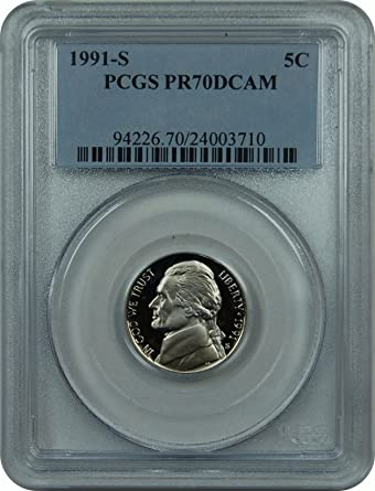 1991 S JEFFERSON NICKEL GEM DCAM PROOF from PROOF Set