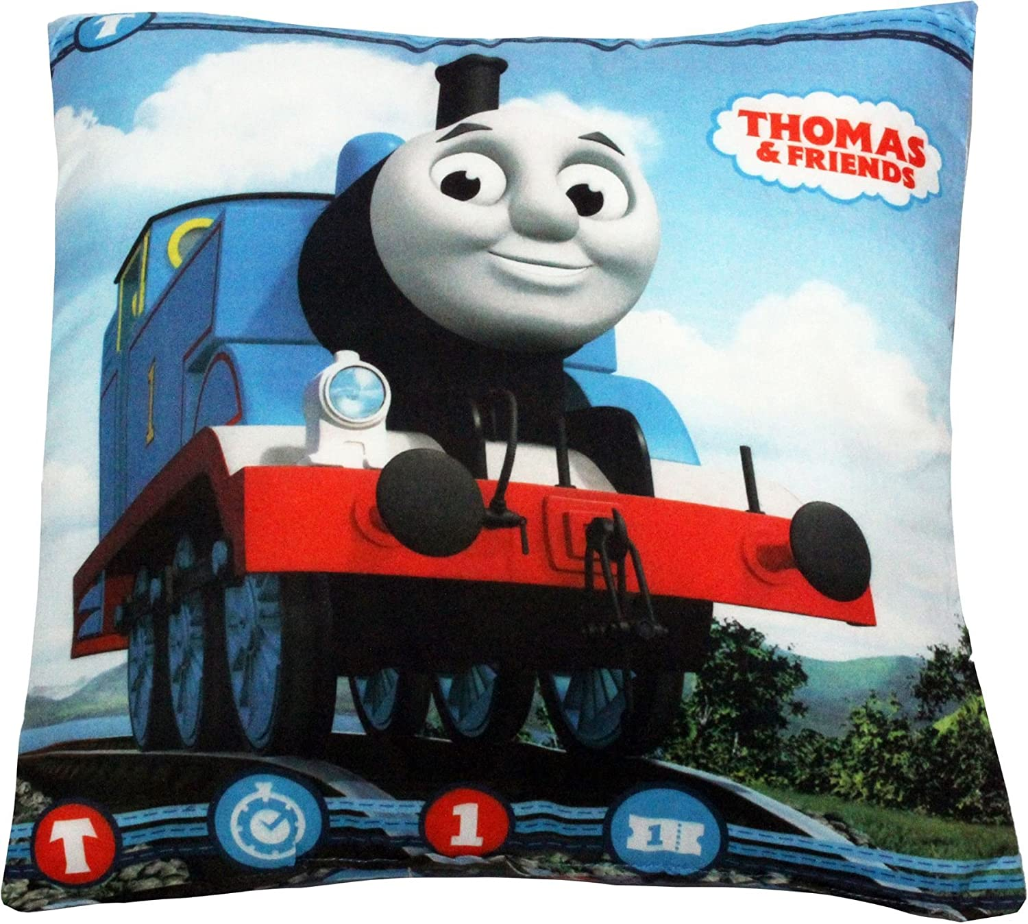 Personalised Thomas Tank Engine Any Name Magic Reveal Sequin Cushion Cover 1