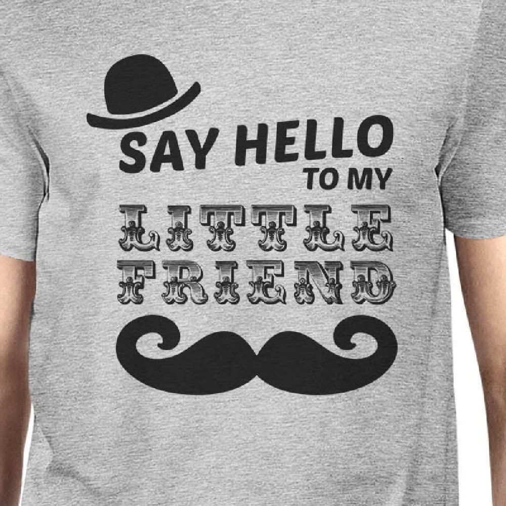 365 Printing Say Hello to My Little Friend Grey Pet Owner Matching Outfits Gifts ONWER - 2XL // PET - S