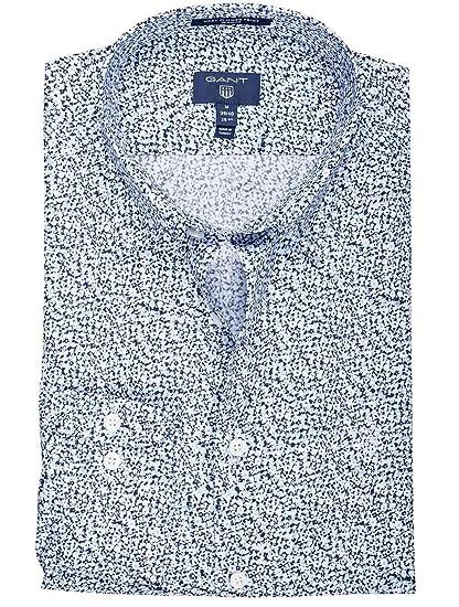 Gant Chemise Imprime Fleuri Bleu Pour Homme Amazon Fr Vetements Et