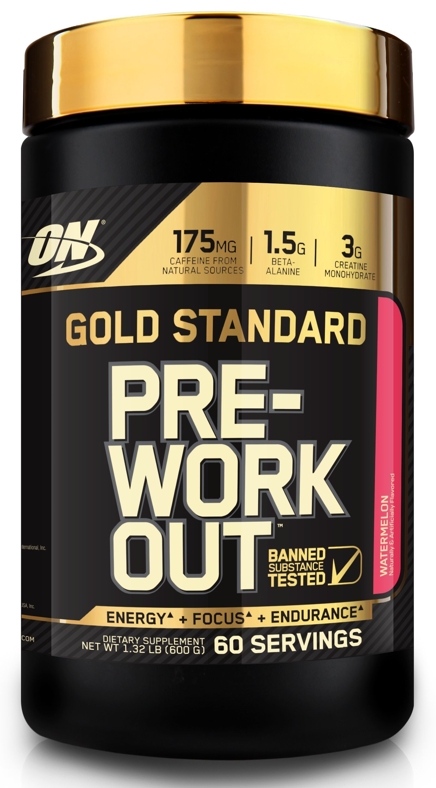 Optimum Nutrition Gold Standard Pre-Workout with Creatine, Beta-Alanine, and Caffeine for Energy, Flavor: Watermelon, 60 Servings