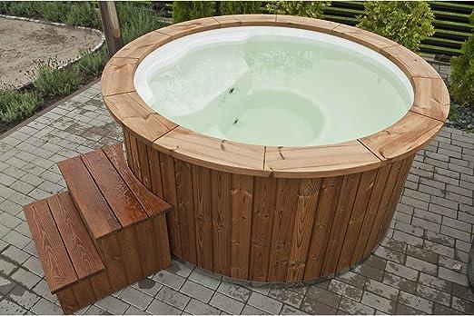 Fibreglass hot tub with inside integrated stove 1,8 m: Amazon.co.uk ...