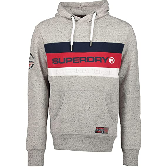 detailed look 64f74 751e9 Superdry Men's Trophy Hood Long Sleeve Jumper: Amazon.co.uk ...