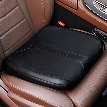 QYILAY Leather Car Memory Foam Heightening Seat Cushion - The Best Leather Car Seat Cushion