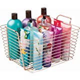 InterDesign Classico Storage Basket, Large Wire Basket for Toiletries, Kitchen Utensils, Toys and More, Made of Metal, Copper Coloured