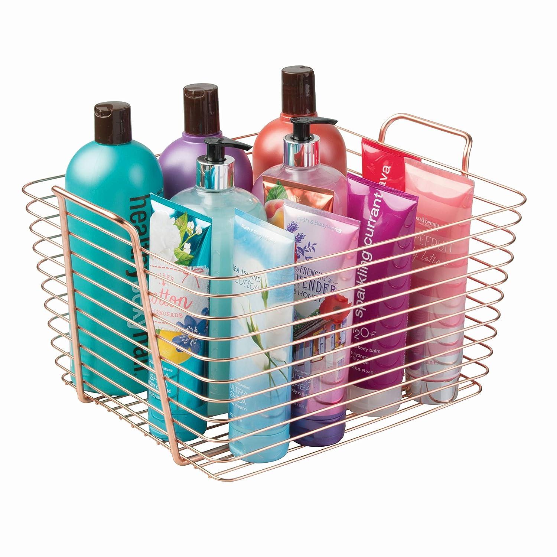 InterDesign Classico Storage Basket, Large Wire Basket for ...