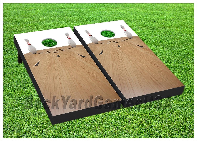 BowlingカスタムCornholeボードBeanbag Toss Game WバッグBowling Alleyセット188   B06ZY7XVC1