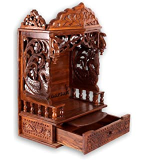 Aarsun Sheesham Handcarved Wooden Temple Mandir Design Temple Of Home