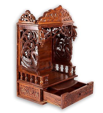 Aarsun Woods Sheesham Handcarved Wooden Temple / Mandir Design Part 58