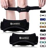 CAMBIVO Patella Knee Strap, 2 Pack Knee Brace, Adjustable Patellar Tendon Knee Support Band for Running, Hiking…