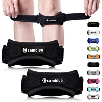 CAMBIVO Patella Knee Strap, 2 Pack Knee Brace with 2 Extra Straps, Adjustable Patellar Tendon Support Band for Running, Hiking, Volleyball, Jumpers Knee, Tendonitis, Arthritis and Injury Recovery