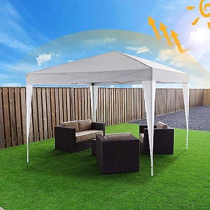 Bunao Carpa con Paredes 3x3 m | Plegable, Impermeable, con Protección Solar, Ideal para Fiestas en el Jardín | Gazebo, Cenador, Pabellón, Tienda Fiestas | Persona 6-8 (Typ13): Amazon.es: Jardín