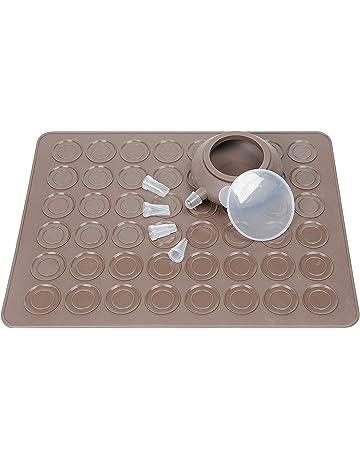 vigorlife Macaron Making Set- 48 capacidad Macaron alfombrillas de cocción de silicona antiadherente Bandejas de