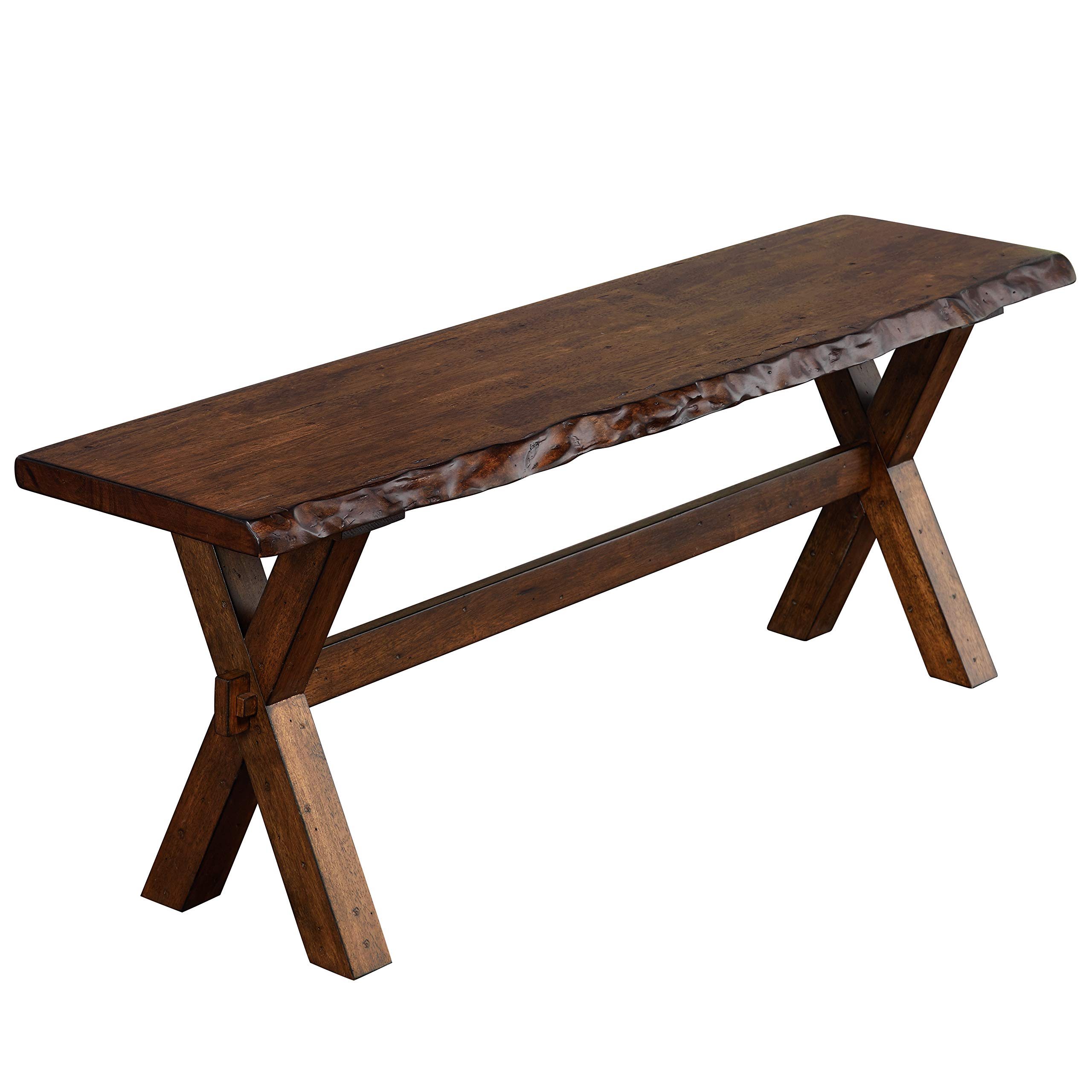 The Mezzanine Shoppe 26318BWN Mandeville Mid Century Wooden Dining Bench, 47.6'', Brown