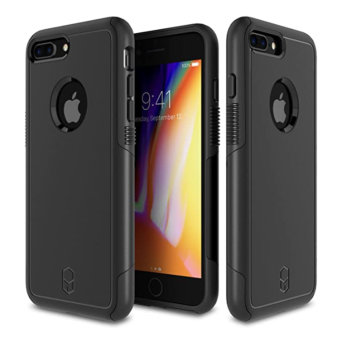 fc5338dbb479e3 Patchworks Level Aegis Case in Black Compatible for iPhone 8/7 Plus  Military Grade Extreme