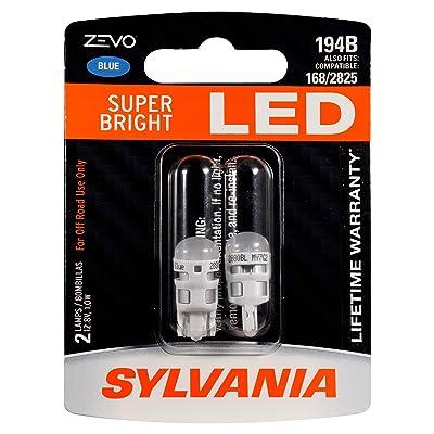 SYLVANIA ZEVO 194 T10 W5W Blue LED Bulb, (Contains 2 bulbs): Home Improvement