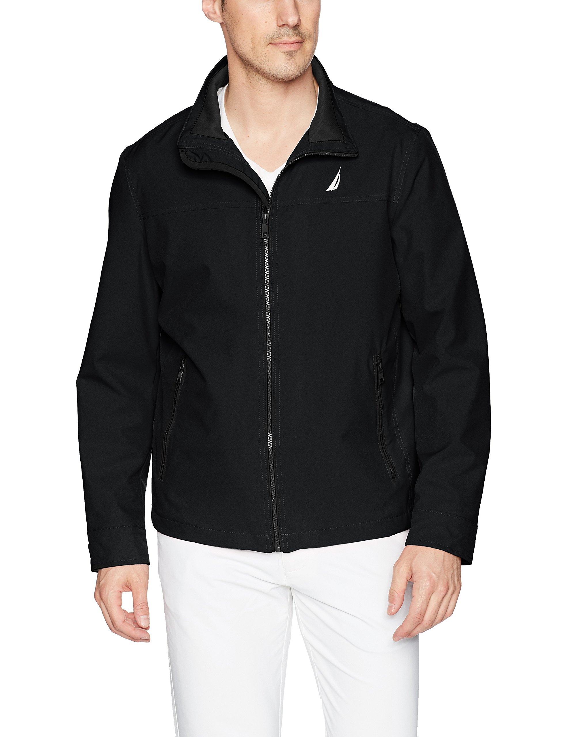 Nautica Men's Lightweight Stretch Golf Jacket, Deep Black, L by Nautica