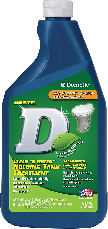Dometic D1113001 D Line Clean 'N Green Holding Tank Treatment - 32 oz. Liquid