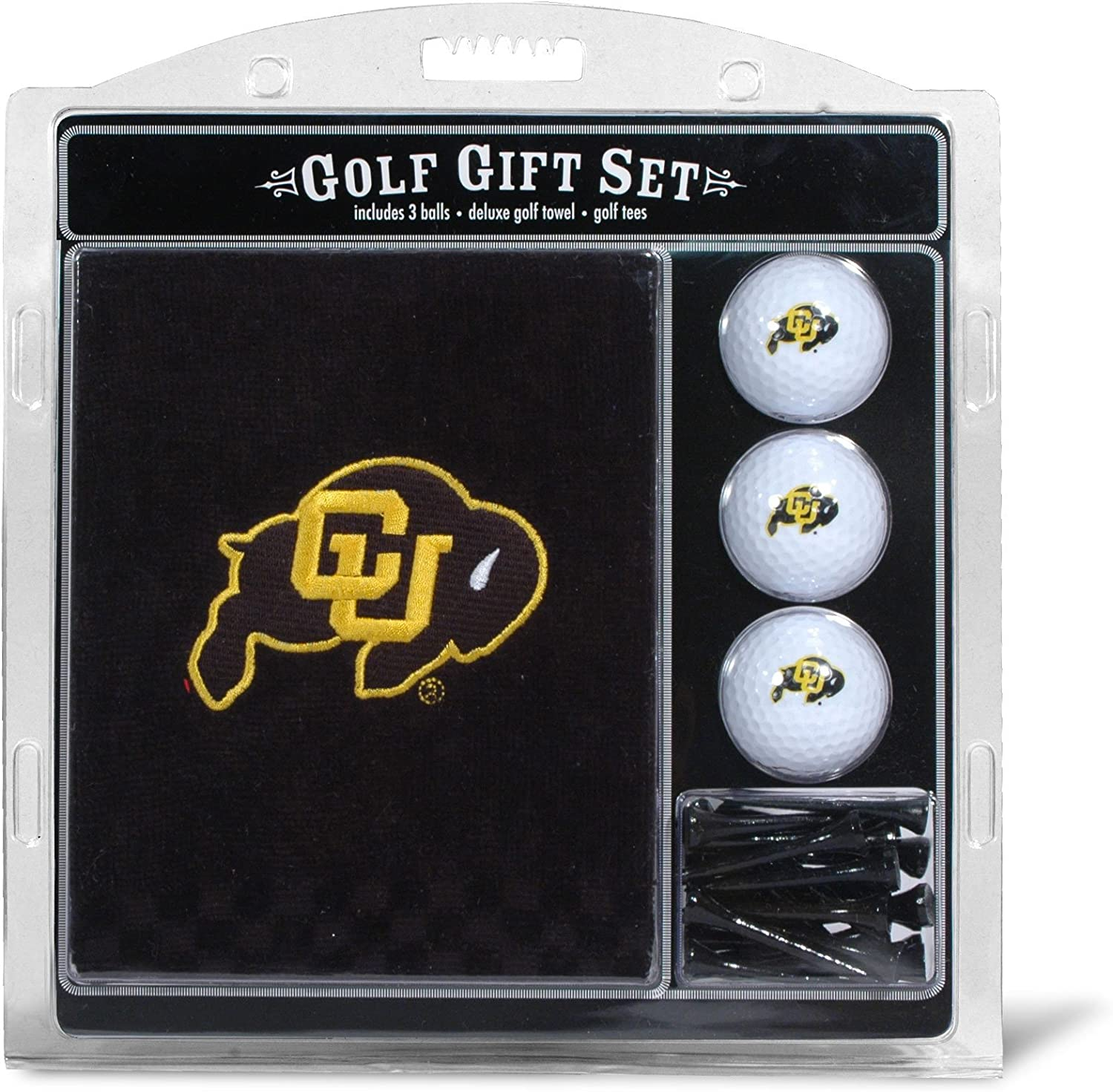 "B0001LT3FQ Team Golf NCAA Gift Set Embroidered Golf Towel, 3 Golf Balls, and 14 Golf Tees 2-3/4"" Regulation, Tri-Fold Towel 16"" x 22"" & 100% Cotton 81CSIjfu2oL"
