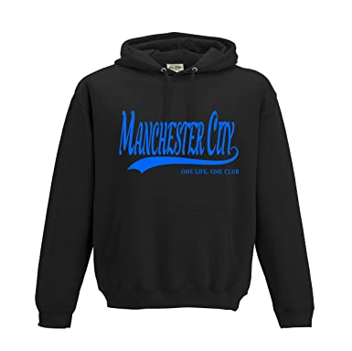 0f05cf82 MANCHESTER CITY Football Gift - Hoodie one life one club top jumper  sweatshirt FC Present FH4: Amazon.co.uk: Clothing